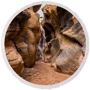 Willis Creek Slot Canyon 6 - Grand Staircase Escalante National Monument Utah Round Beach Towel