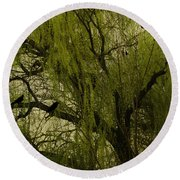 Willow Tree Round Beach Towel by Diane Schuster
