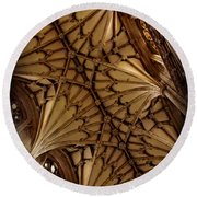 Winchester Cathedral Ceiling Round Beach Towel