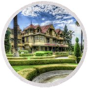 Winchester Mystery House Round Beach Towel by Jim Thompson