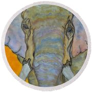 Wind And Fire - Fine Art Painting Round Beach Towel