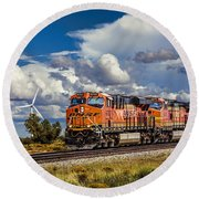 Wind And Rail Round Beach Towel