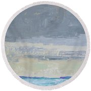 Wind And Rain On The Bay Round Beach Towel