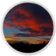 Black Hills Sunset Round Beach Towel by Bill Gabbert