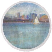 Wind In My Sails Round Beach Towel