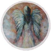 Wind In My Wings, Angel Round Beach Towel