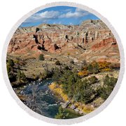 Wind River Country Round Beach Towel