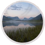 Wind River Morning Round Beach Towel