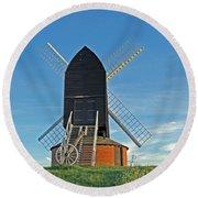 Windmill At Brill Round Beach Towel by Tony Murtagh