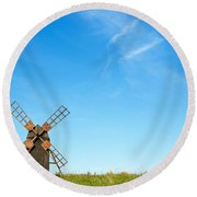 Windmill Portrait Round Beach Towel