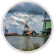 Windmill Trio Round Beach Towel