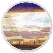 Windmills Round Beach Towel