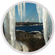 Round Beach Towel featuring the photograph Window Into Minnesota by James Peterson