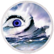 Window Of Your Soul Round Beach Towel
