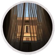 Window On Rome Round Beach Towel