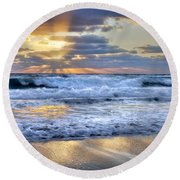 Window To Heaven Round Beach Towel