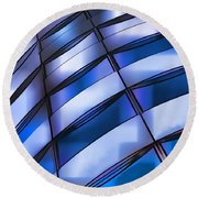 Windows In The Sky Round Beach Towel