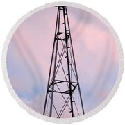 Round Beach Towel featuring the photograph Windpump by Brian Wallace