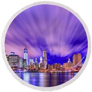 Winds Of Lights Round Beach Towel