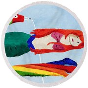 Windsocks Round Beach Towel