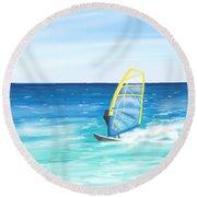 Windsurf Round Beach Towel