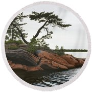 Round Beach Towel featuring the painting Windswept by Kenneth M Kirsch