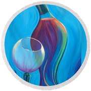 A Wine Affair Round Beach Towel