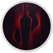 Wine Glow Round Beach Towel
