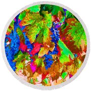 Round Beach Towel featuring the photograph Wine In Time by David Lawson