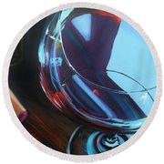 Wine Reflections Round Beach Towel by Donna Tuten