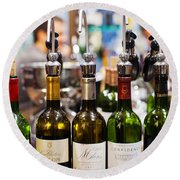 Wine Tasting, Saint-emilion, Gironde Round Beach Towel