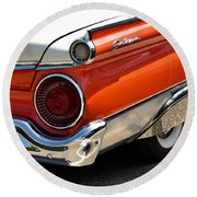 Wing And A Skirt - 1959 Ford Round Beach Towel