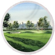 Winged Foot West Golf Course 18th Hole Round Beach Towel