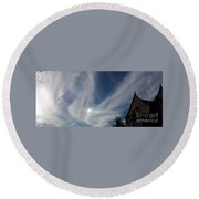 Angel Wings Round Beach Towel by Becky Lupe