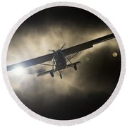 Round Beach Towel featuring the photograph Wings by Paul Job
