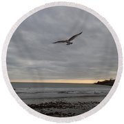 Wings Round Beach Towel by Robert Nickologianis