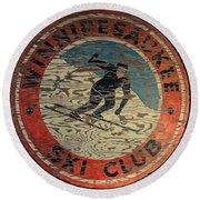 Winnipesaukee Ski Club 2 Round Beach Towel