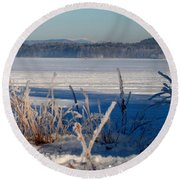 Winnisquam Winter Round Beach Towel