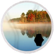 Winnsboro Reservoir-1 Round Beach Towel by Charles Hite