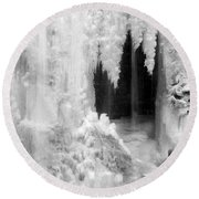 Winter Cave Round Beach Towel by Jeannette Hunt