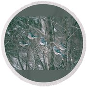 Winter Conference Round Beach Towel
