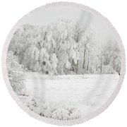 Winter Doe Round Beach Towel