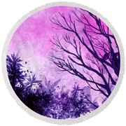 Winter Dreams  Round Beach Towel