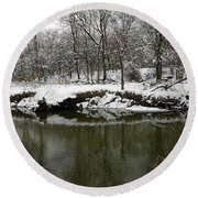 Winter Forest Series 2 Round Beach Towel
