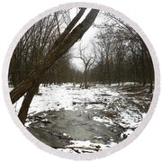 Winter Forest Series Round Beach Towel