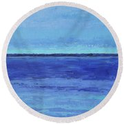 Winter Morning Round Beach Towel by Gail Kent