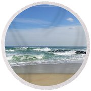 Winter Ruffians Round Beach Towel
