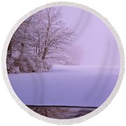Winter Solstice Round Beach Towel