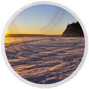 Winter Solstice Round Beach Towel