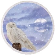 Winter Solstice Round Beach Towel by Heather King